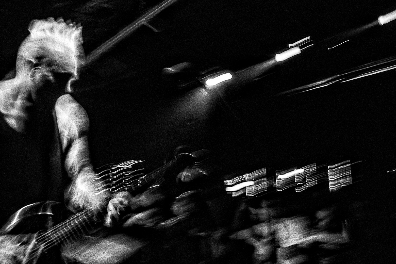 Black and white photograph of Pete Koller of Sick of it All Toads Place New Haven